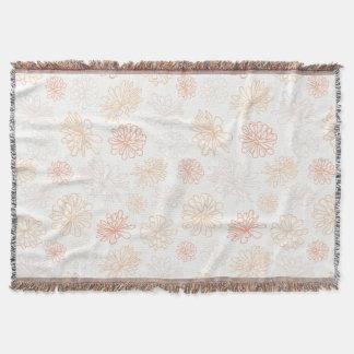 Floral Pattern Succulent Plant Botanical Print Throw Blanket