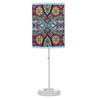 Floral Pattern Table Lamps