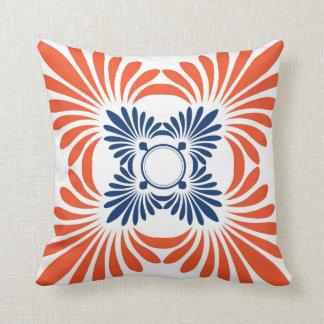 Floral Pattern Throw Pillows:Blue Red Pillows