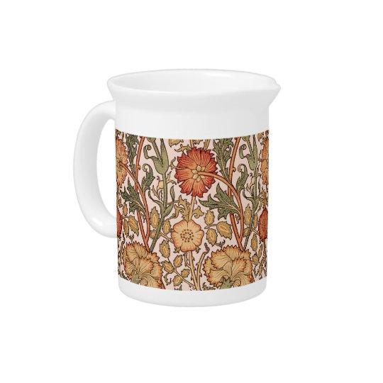 Floral Pattern Vintage Pink Designer Fabric Drink Pitchers