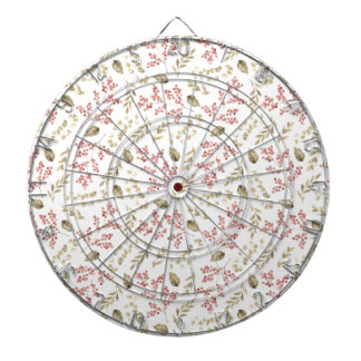 Floral pattern with berries dartboard