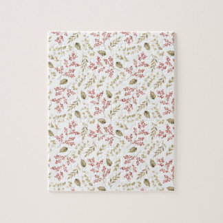 Floral pattern with berries jigsaw puzzle