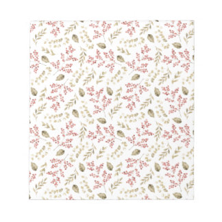 Floral pattern with berries notepad