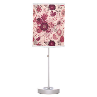 Floral pattern with cartoon birds lamp
