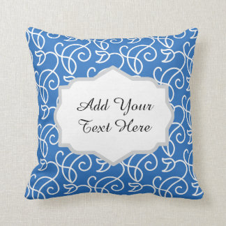 Floral Pattern with Custom Text Badges Pillow