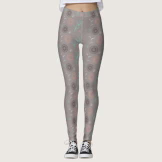 floral pattern with sends them in boho style leggings