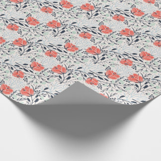 Floral Pattern Wrapping Paper