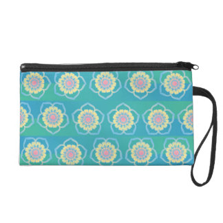 Floral pattern wristlet purses