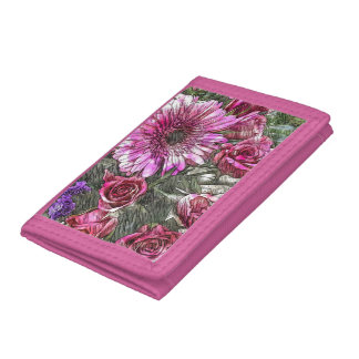 Floral patterned wallet
