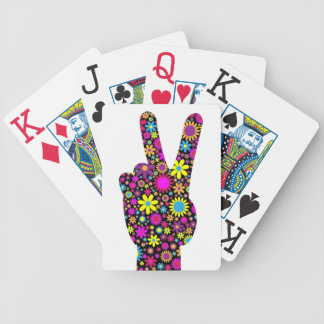 FLORAL PEACE HAND SIGN POKER DECK
