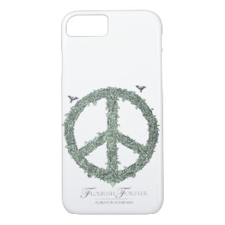 Floral Peace Sign Flourish Forever by TEO iPhone 7 Case