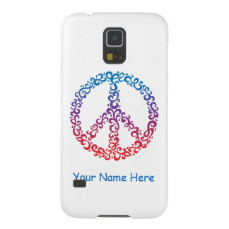 Floral Peace Symbol Galaxy S5 Cover
