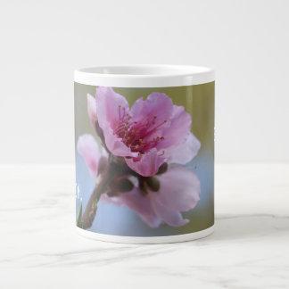 Floral (peach blossom) w Scripture Verse Large Coffee Mug