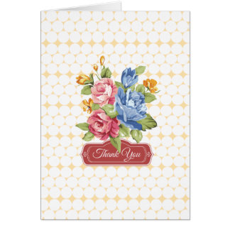 Floral & Pearls Thank You Card