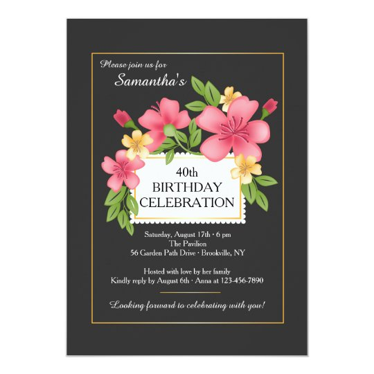 Floral Perfection Invitation
