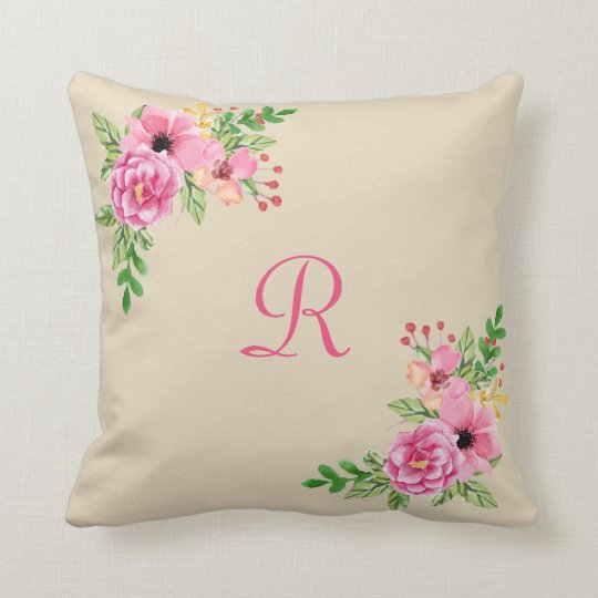 Floral Personalized Pillow