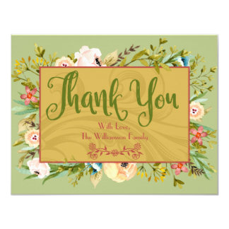 Floral Personalized Thank You Card