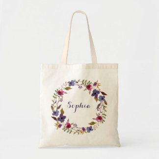 Floral Personalized Tote Bag
