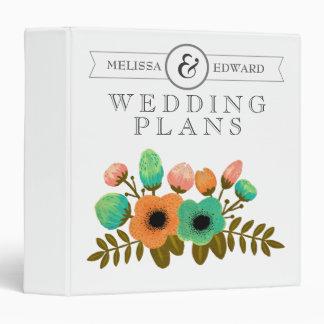 Floral Personalized Wedding Planner Binder