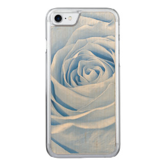 Floral Photo Dainty Light Blue Rose Carved iPhone 7 Case