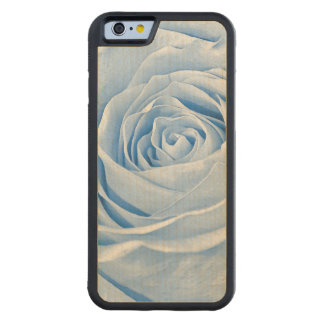 Floral Photo Dainty Light Blue Rose Carved® Maple iPhone 6 Bumper