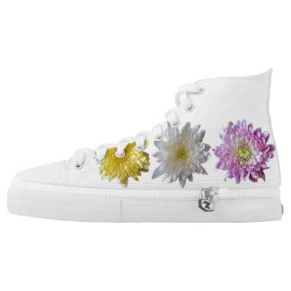 Floral Photograph  rubber soled sneakers