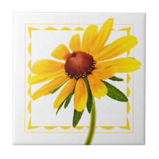 Floral Photography Black-Eyed Susan Wildflower Tile