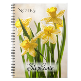 Floral Photography Bunch of Yellow Daffodils Notebook