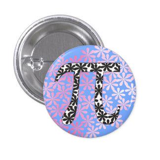 Floral Pi Symbol 1 Inch Round Button