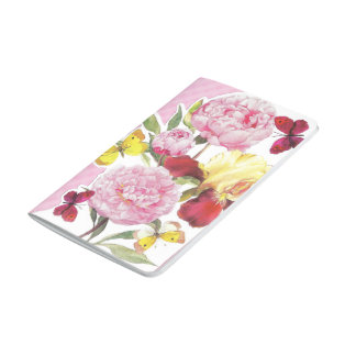 Floral Pink and Yellow Butterfly Iris Bouquet Journal