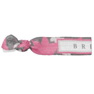 Floral Pink & Black - Bride Hair Tie