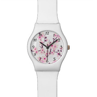 Floral Pink Cherry Blossoms Watch