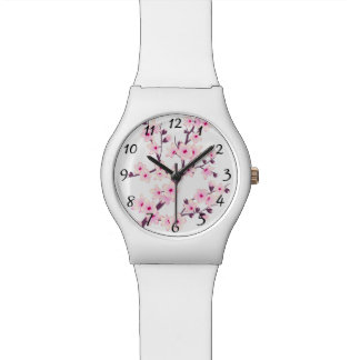 Floral Pink Cherry Blossoms Wrist Watch