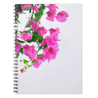 floral pink. close up notebook