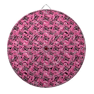 Floral Pink Collage Pattern Dartboard