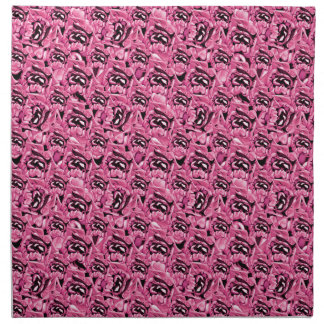 Floral Pink Collage Pattern Napkin