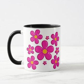 Floral pink element mug