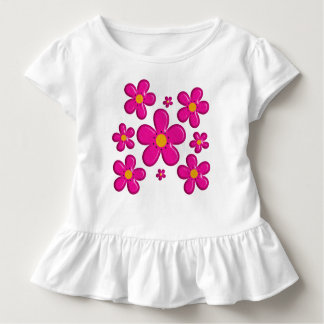 Floral pink element toddler t-shirt