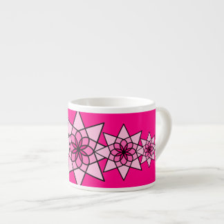 Floral Pink Geometric Flower Coffee Cup