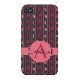 Floral Pink iPhone 5 case Monogram
