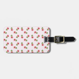 Floral Pink Luggage Tag