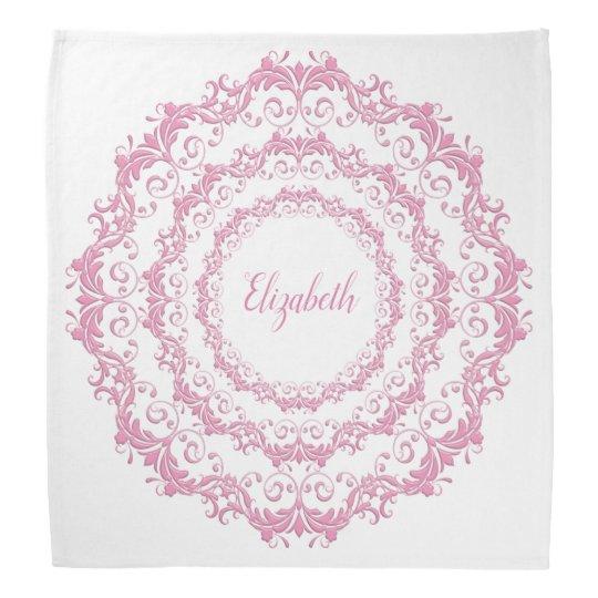 Floral pink mandala bandana