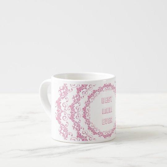 Floral pink mandala. Name. Espresso Cup