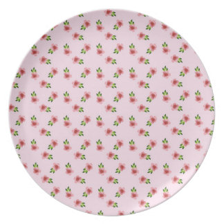 Floral Pink Party Plates
