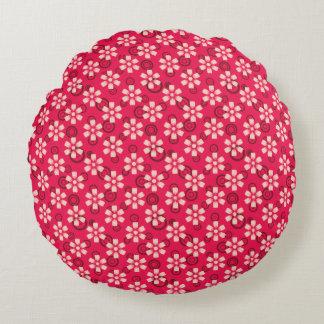floral pink pillow