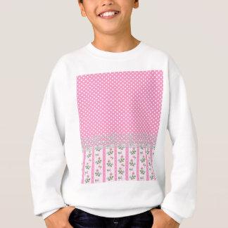 floral pink polka dots design art sweatshirt