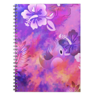 Floral Pink & Purple Notebook (80 Pages B&W)