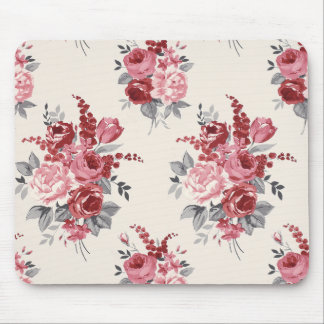 Floral Pink & Red Rose Bouquet Flower Mousepad