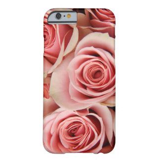 Floral, Pink Roses, Petals Smooth as Silk, iPhone  Barely There iPhone 6 Case