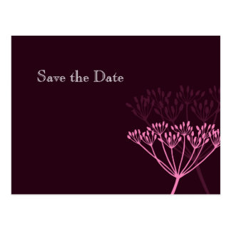 Floral/Pink Save the Date Postcard